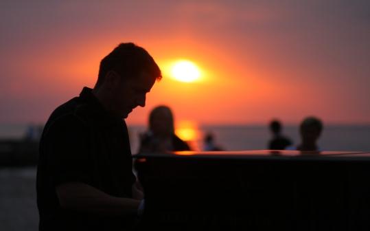 Pianista na plaży