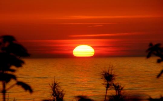 """Afrykański"" zachód słońca"